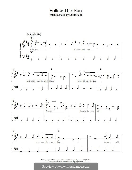 Follow the Sun: Для фортепиано by Xavier Rudd