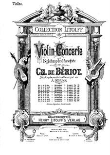 Концерт для скрипки с оркестром No.4, Op.46: Сольная партия by Шарль Берио