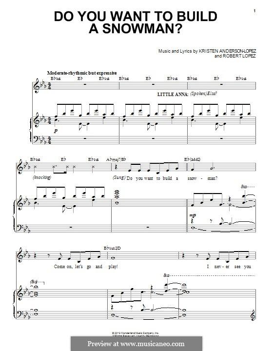 Do You Want to Build a Snowman? (Kristen Bell): Для голоса и фортепиано by Robert Lopez, Kristen Anderson-Lopez