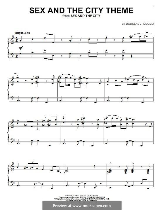 Ноты для фортепиано из секс в большом городе 2
