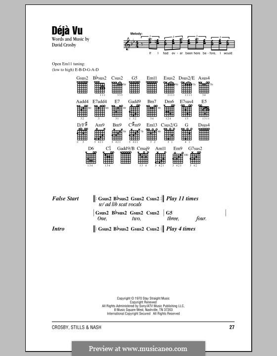 Deja Vu (Crosby, Stills & Nash): Текст и аккорды by David Crosby