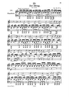 Карлик, D.771 Op.22 No.1: Для среднего голоса и фортепиано by Франц Шуберт