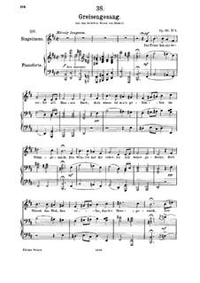 Greisengesang (Song of Old Age), D.778 Op.60 No.1: Для среднего голоса и фортепиано by Франц Шуберт
