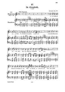 Im Abendrot (In the Glow of Evening), D.799: Для среднего голоса и фортепиано by Франц Шуберт