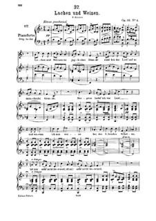 Lachen und Weinen (Laughter and Tears), D.777 Op.59 No.4: Для среднего голоса и фортепиано by Франц Шуберт