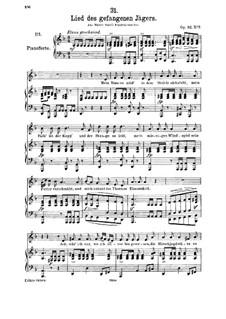 Lied des gefangenen Jägers (Song of the Imprisoned Huntsman), D.843 Op.52 No.7: Для среднего голоса и фортепиано by Франц Шуберт