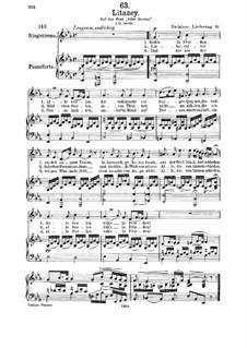 Литания, D.343: Для среднего голоса и фортепиано by Франц Шуберт