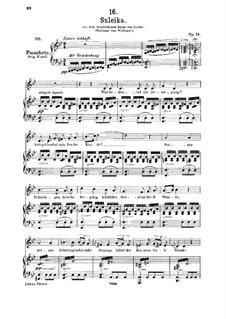 Зулейка I, D.720 Op.14 No.1: Для среднего голоса и фортепиано by Франц Шуберт