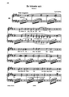 Восемь песен, Op.57: No.3 This I Dreamt, I Was Dear to You by Иоганнес Брамс