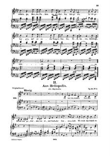 From 'Heliopolis' I, D.753 Op.65 No.3: Для среднего голоса и фортепиано by Франц Шуберт