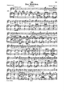 Das Mädchen (The Maiden), D.652: Для среднего голоса и фортепиано by Франц Шуберт