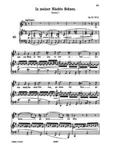 Восемь песен, Op.57: No.5 In My Nights I Yearn by Иоганнес Брамс