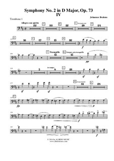 Часть IV: Trombone Bass Clef 1 (Transposed Part) by Иоганнес Брамс