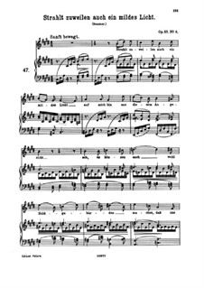 Восемь песен, Op.57: No.6 Sometimes Too Radiates a Mild Light by Иоганнес Брамс