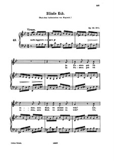 Восемь песен, Op.58: No.1 Blinde Kuh (Blindman's Buff) by Иоганнес Брамс