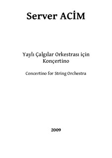 Concertino for String Orchestra: Concertino for String Orchestra by Server Acim