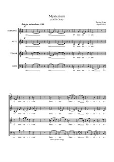 Mysterium (SATB Choir): Mysterium (SATB Choir) by Jordan Grigg