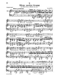 Ellen's Song II, D.838 Op.52 No.2: Для среднего голоса и фортепиано by Франц Шуберт
