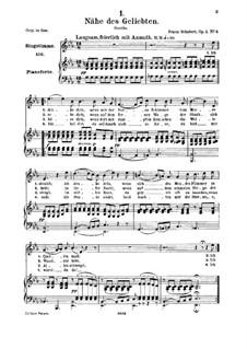 Близость возлюбленного, D.162 Op.5 No.2: Для среднего голоса и фортепиано by Франц Шуберт