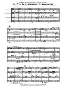 Der Mai ist gekommen: For brass quartet by folklore