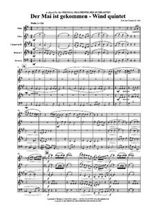 Der Mai ist gekommen: For wind quintet by folklore