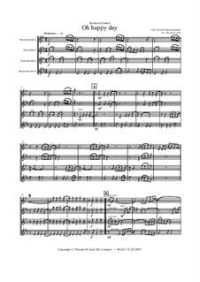 Oh happy day: For saxophone quartet by folklore, Edward Francis Rimbault