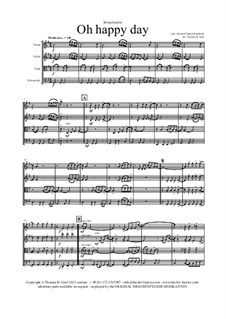 Oh happy day: For string quartet by folklore, Edward Francis Rimbault