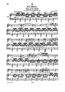 Аве Мария (вокально-фортепианная партитура), D.839 Op.52 No.6: Для высокого голоса и фортепиано by Франц Шуберт