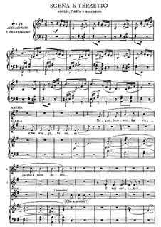 Бал-маскарад: Акт I, часть II, для голосов и фортепиано by Джузеппе Верди