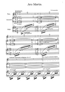 Ave Maria: For voice, harp and harmonium by Руджеро Леонкавалло