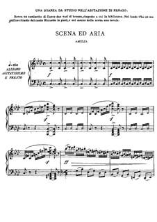Бал-маскарад: Акт III часть I, для голосов и фортепиано by Джузеппе Верди