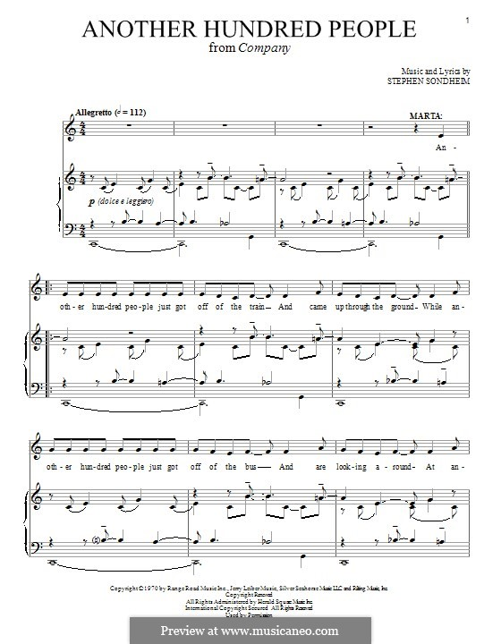 Another Hundred People: Для голоса и фортепиано by Stephen Sondheim