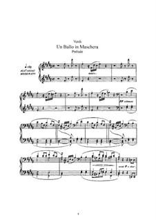 Бал-маскарад: Аранжировка для голосов и фортепиано by Джузеппе Верди