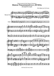 Похоронный марш до минор, K.453a: Для органа by Вольфганг Амадей Моцарт