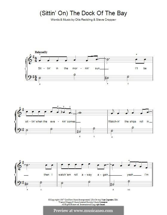 (Sittin' On) The Dock of the Bay: Для фортепиано by Otis Redding, Steve Cropper