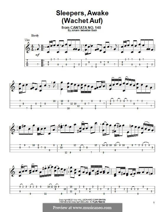Sleepers, Awake: Для укулеле by Иоганн Себастьян Бах