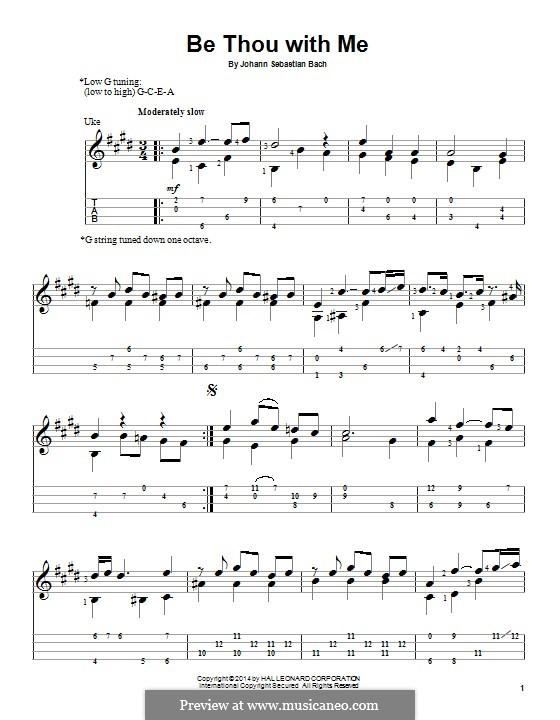 No.25 Bist du bei mir (You Are with Me), Printable scores: Для укулеле by Иоганн Себастьян Бах