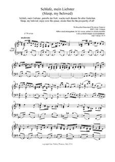 Рождественская оратория, BWV 248: Sleep, my Beloved, for SA by Иоганн Себастьян Бах