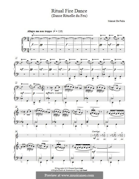 Ritual Fire Dance: Для фортепиано by Мануэль де Фалья