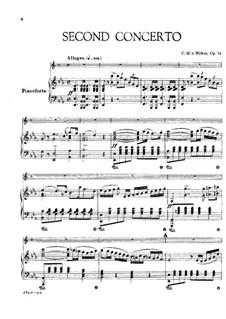Концерт для кларнета с оркестром No.2, J.118 Op.74: Версия для кларнета и фортепиано by Карл Мария фон Вебер