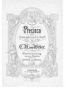 Прециоза, J.279 Op.78: Клавир с вокальной партией by Карл Мария фон Вебер