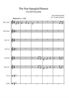 The Star Spangled Banner (National Anthem of The United States): For orff ensemble by Джон Стаффорд Смит