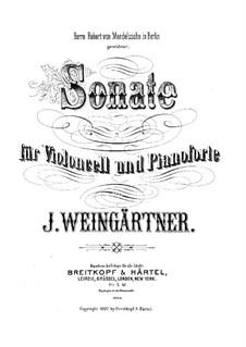 Соната для виолончели и фортепиано фа мажор: Партитура by И. Вайнгертнер