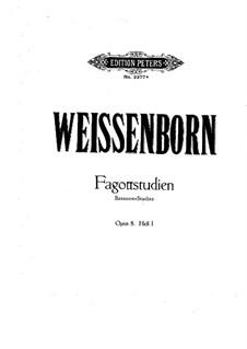 Упражнения для фагота, Op.8: Сборник I by Юлиус Вайссенборн