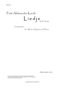 Liedje - Song composed for VSB Poetry Festival - Composers Competition: Liedje - Song composed for VSB Poetry Festival - Composers Competition by Piotr Aleksander Korab