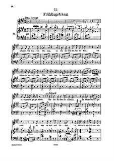 No.11 Весенний сон: Для высокого голоса и фортепиано by Франц Шуберт