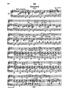 Ганимед, D.544 Op.19 No.3: Для высокого голоса и фортепиано by Франц Шуберт