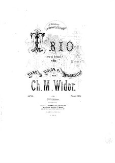 Фортепианное трио си-бемоль мажор, Op.19: Партитура by Шарль Мари Видор