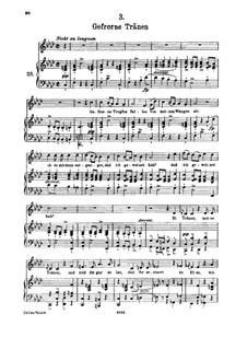 No.3 Застывшие слёзы: Для высокого голоса и фортепиано by Франц Шуберт