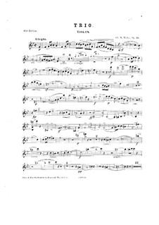 Фортепианное трио си-бемоль мажор, Op.19: Партия скрипки by Шарль Мари Видор